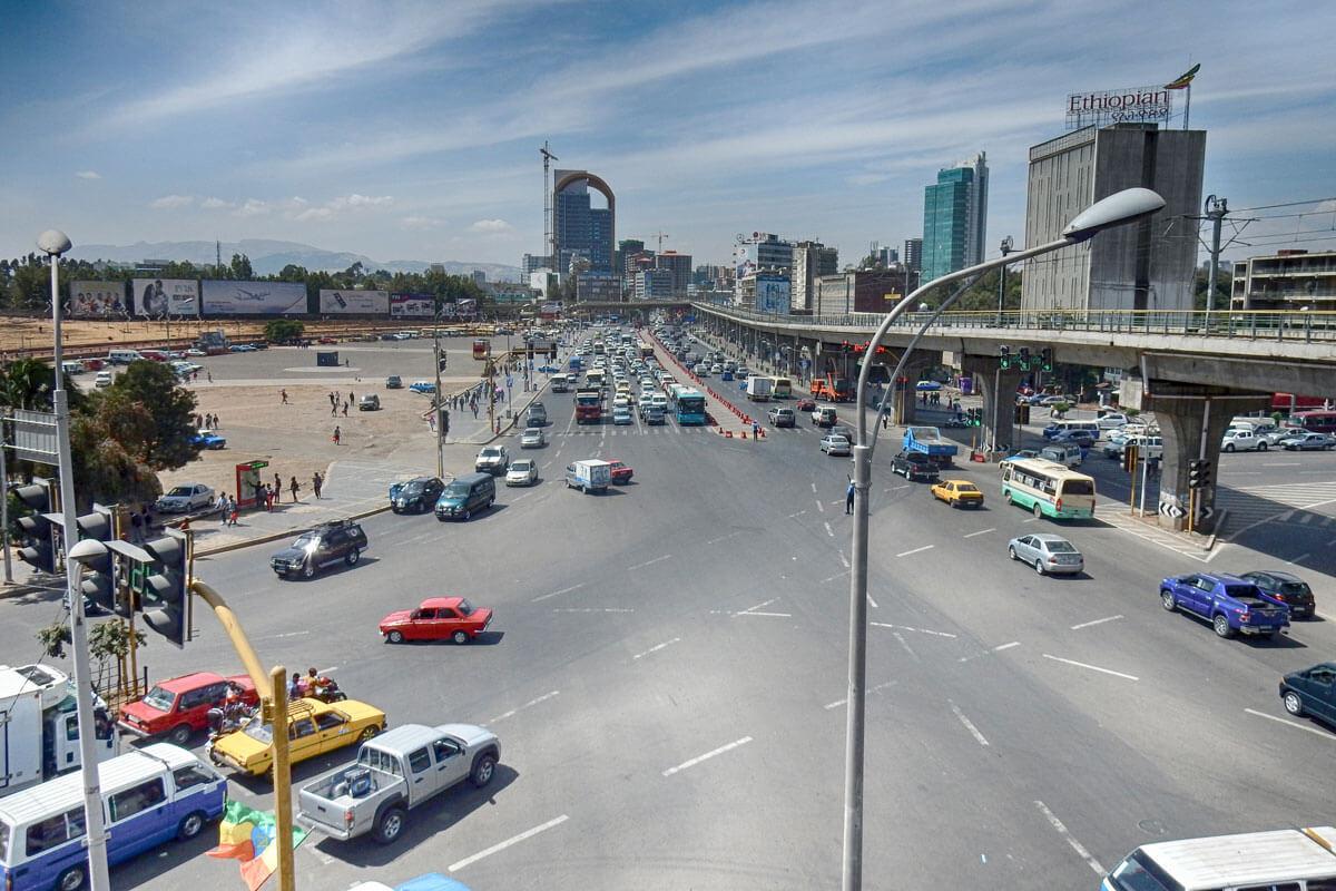 Meskel-square-addis-ababa-adventuresinethiopia-haile-selase-street