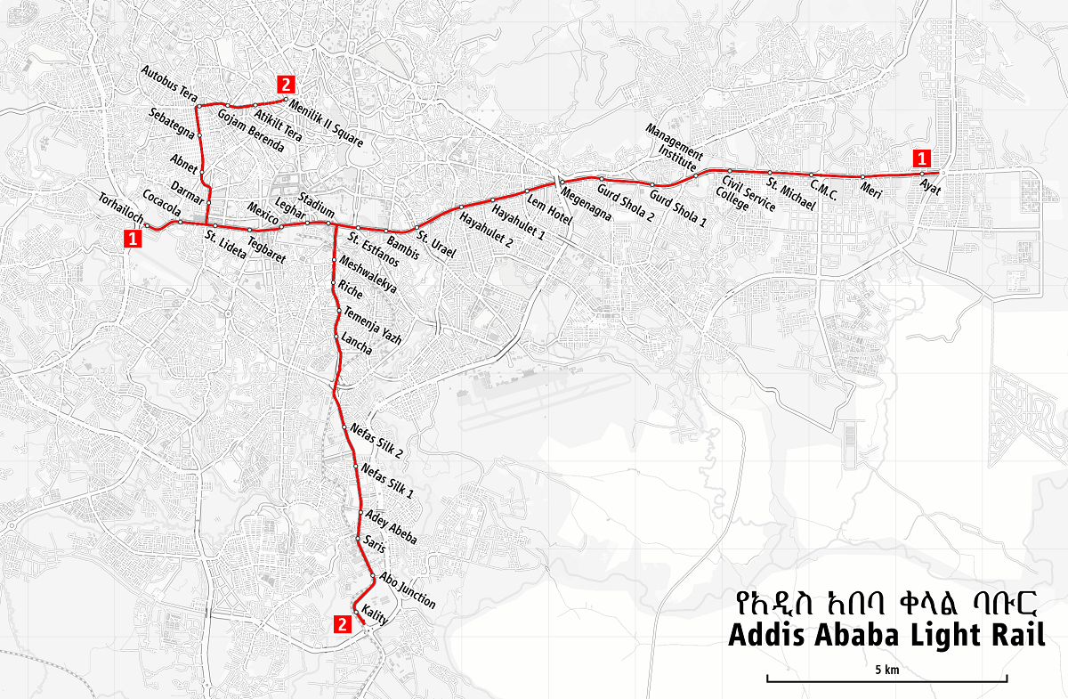 Map_of_the_Addis_Ababa_Light_Rail traveling adventures travelers