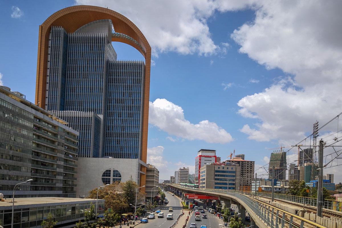 Addis Abab_citytour_Africa_new_light rail_Metro_trail_biuldings_tourism_Africa_country_mainstreet_adventuresinethiopia
