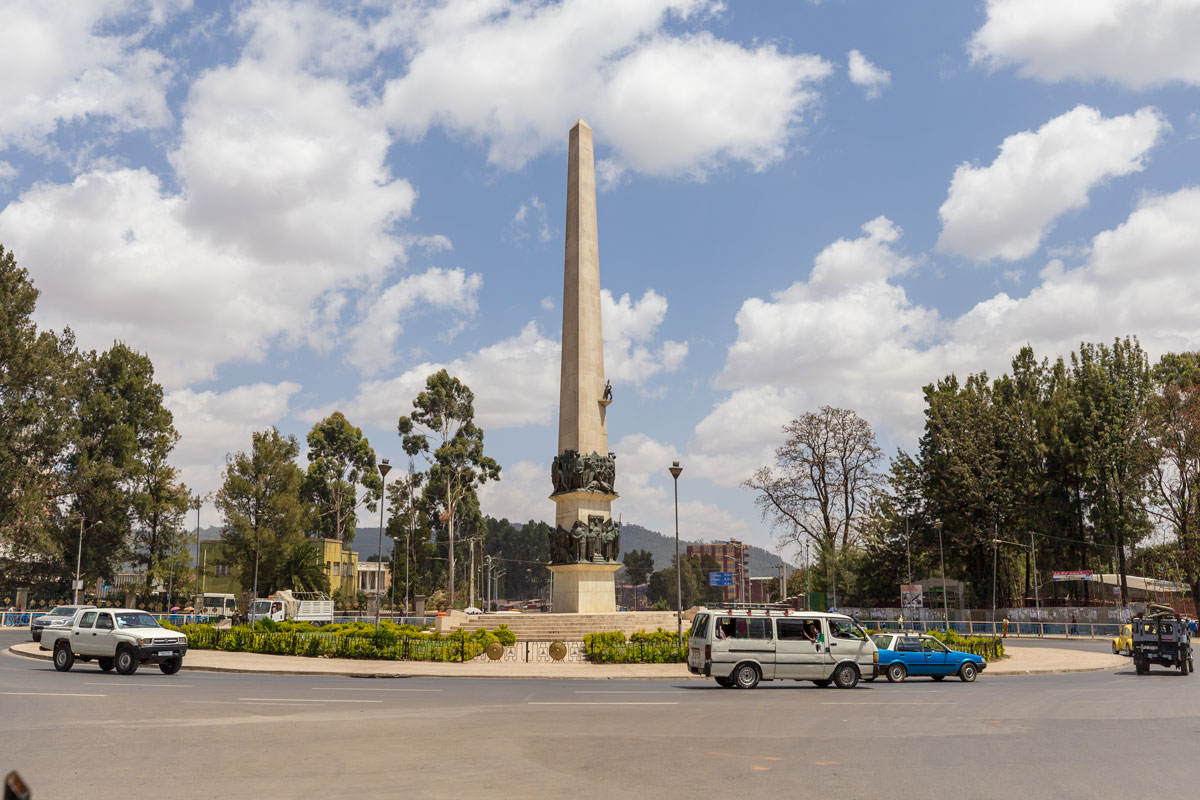 Addis Ababa_monument_city_tour_traveleing_around country_Africa_people_cars_adventuresinethiopia