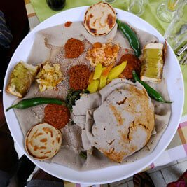 Ethiopia-traditional-meal-bread-injera-local-wat-fasting-food