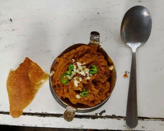 Ethiopian-breakfast-restaurant-tegabino-shiro-bread-injera-traveling-lentils