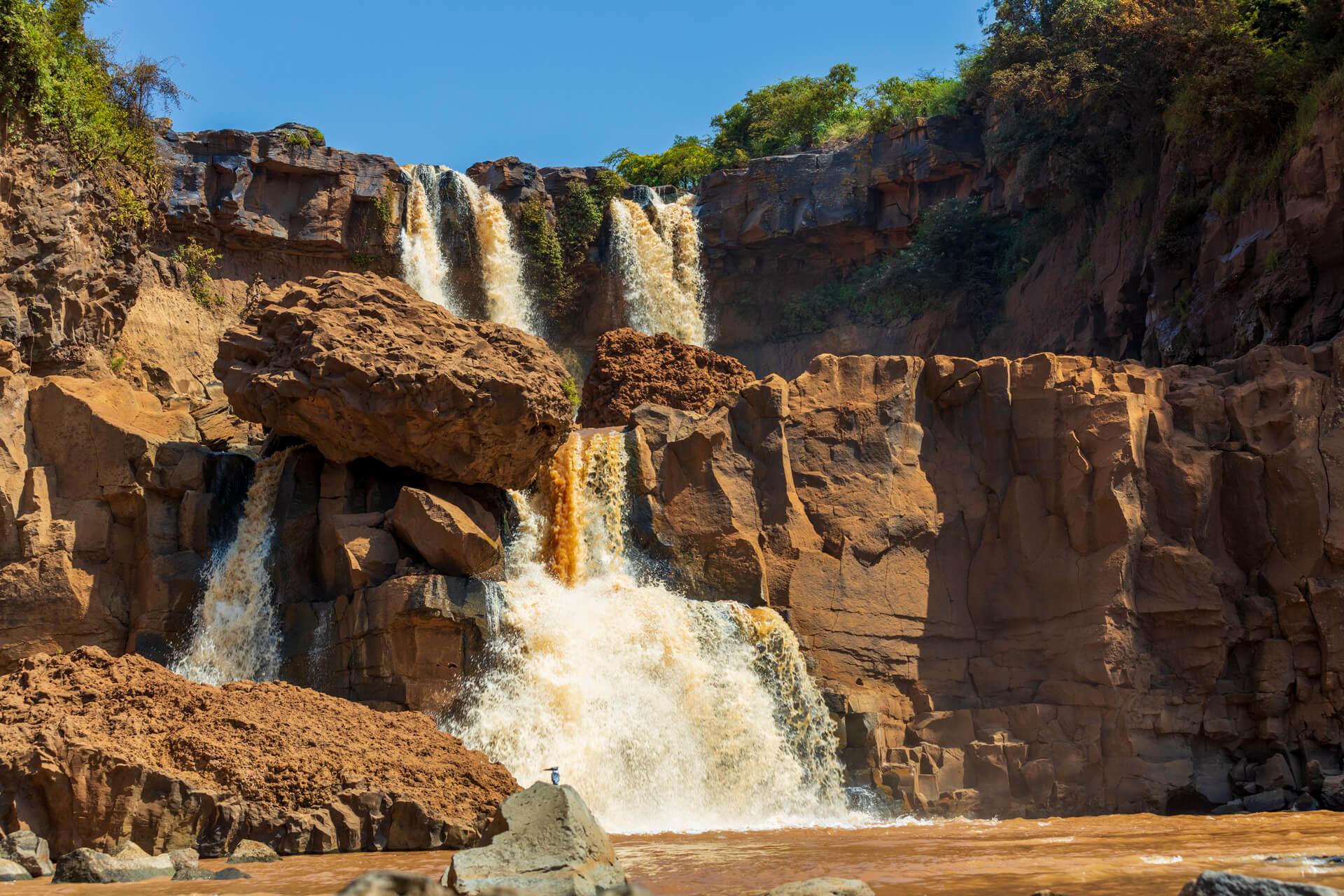 Ethiopia-Arba Minch-Abaja lake-waterfall-river-nature-landscape-nature-adventure